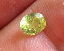 0.57cts Natural Australian Yellow Sapphire Oval  Shape