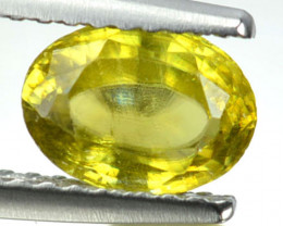 1.31 Cts Natural Sphene Olive Green Oval Cut Russia