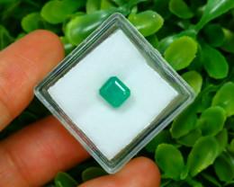 Panjshir 1.56Ct Octagon Cut Natural Afghanistan Green Emerald SA174