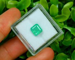 Panjshir 1.86Ct Octagon Cut Natural Afghanistan Green Emerald SA177
