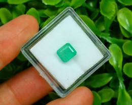 Panjshir 1.58Ct Octagon Cut Natural Afghanistan Green Emerald SA187