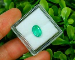 Panjshir 1.33Ct Oval Cut Natural Afghanistan Green Emerald SA200