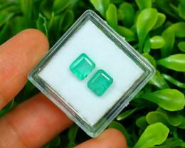 Panjshir 2.33Ct Octagon Cut Natural Afghanistan Green Emerald SA209