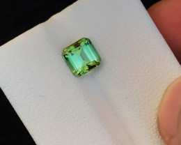 1.40 Ct Natural Green Transparent Tourmaline Flawless Gemstone