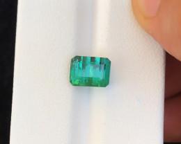 3.30 Ct Natural Blueish Green Transparent Tourmaline Gemstone