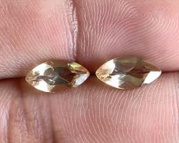 5x10mm Citrine Pair Natural Marquise Faceted Gemstone VA1377