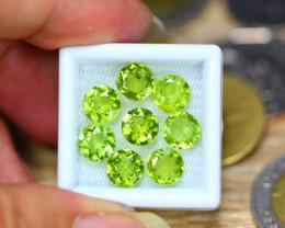 10.48ct Natural Green Peridot  Round Cut Lot V8253