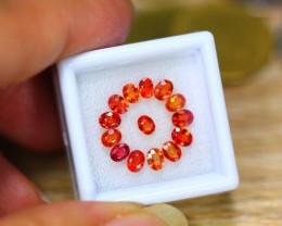 3.51ct Natural Songea Orange Sapphire Oval Cut Lot V8274