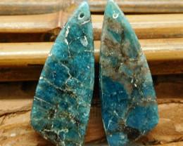 Natural gemstone apatite earring pairs (G3139)