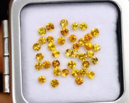 3.37cts Natural Diamond Cutting Yellow Sapphire Lot / MA2132