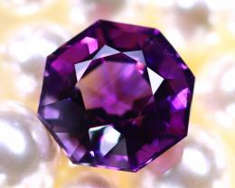 Amethyst 10.55Ct Natural Uruguay Electric Purple Amethyst E0423/C4