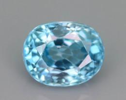 AAA Brilliance 2.25 ct Blue Zircon Cambodia ~ K