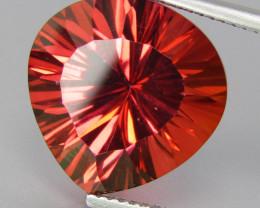 13.35Cts Stunning Orange Color Coated Orange Topaz heart Shape Loose Gem