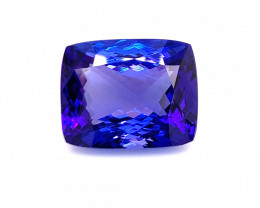10.23CtsAAA+Mermerizing Blue Color Natural Tanzanite Gemstone