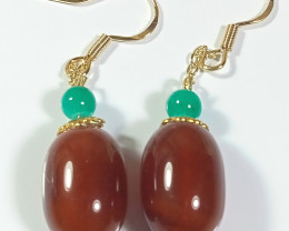Natural Agate Earring