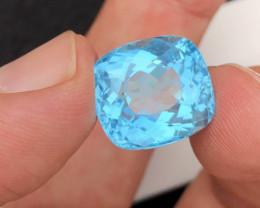 Prefect  Cut 19.90 Ct Natural  Blue Topaz gemstone