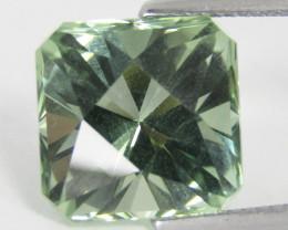 9.70Cts Stunning Natural Green Amethyst (prasiolite) Square Checker Cut