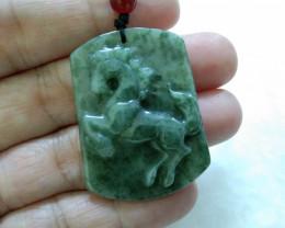 Cert JADE Pendant (Horse Carving)