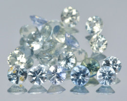 Sapphire 2.45 Cts 13Pcs Natural Light Blue Green Color