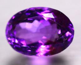 7.81ct Natural Purple Amethyst Oval Cut Lot B4299