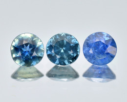 Srilanka Sapphire 0.61 Cts 3Pcs Natural Blue Color Gemstone