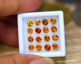 4.80ct Natural Hessonite Garnet Round Cut Lot B4321