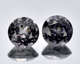 Burma Spinel 1.19 Cts 2Pcs Unheated Purple Grey Color Natural Gemstone