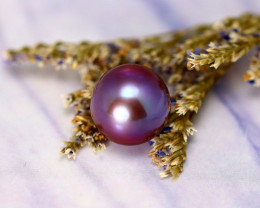 11.40mm 10.66Ct Natural Tahitian Aubergine Color Pearl EJ0301/A244