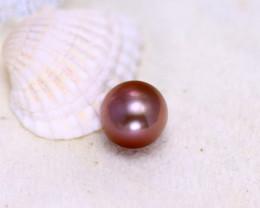 11.90mm 12.30Ct Natural Tahitian Cherish Aubergine Color Pearl EJ0313/A244