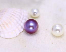 11.10mm 9.94Ct Natural Tahitian Aubergine Color Pearl EJ0314/A244
