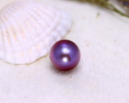 11.10mm 9.90Ct Natural  Tahitian Aubergine Color Pearl EJ0315/A244
