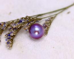 11.10mm 9.53Ct Natural Tahitian Aubergine  Color Pearl EJ0316/A244