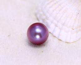 11.10mm 9.77Ct Natural Tahitian Aubergine  Color Pearl EJ0317/A244