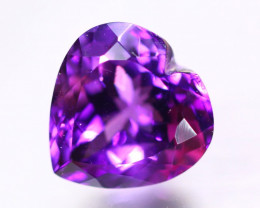9.66Ct Natural Purple Amethyst Heart Cut Lot GW9411