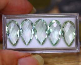 25.08ct Natural Green Prasiolite Pear Cut Lot GW9426