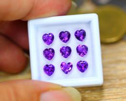 3.95ct Natural Purple Amethyst Heart Cut Lot GW9430