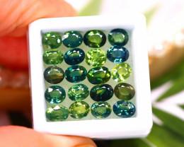 Unheated Sapphire 13.45Ct 20Pcs Natural Peacock Sapphire   ER536/B9