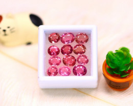 Tourmaline 10.54Ct 12Pcs Natural Pink Color Tourmaline  ER550/B49