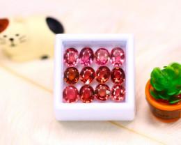Tourmaline 11.15Ct 12Pcs Natural Orange Pink Color Tourmaline  ER551/B49