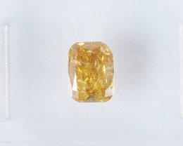 0.90ct Natural Fancy Deep brownish orangy Yellow Diamond GIA certified  + V