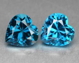 London Topaz 3.24 Cts 2Pcs Fancy Color Natural Gemstone - Pair