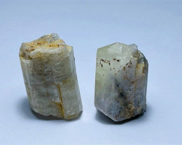 Amazing Natural color Scapolite 2 crystals  76Cts-A