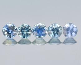 Srilanka Sapphire 0.80 Cts 5Pcs Natural Blue Color Gemstone - Parcel