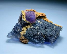 Amazing Natural Lovely color Damage free Phantom Fluorite specimen 578Cts-P