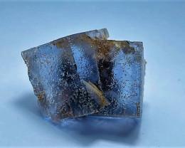 Amazing Natural Lovely color Damage free gemmy Fluorite specimen 87Cts-P