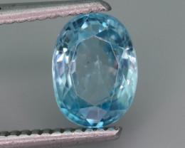 AAA Brilliance 2.05 ct Blue Zircon Cambodia ~ K