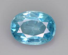 AAA Brilliance 2.85 ct Blue Zircon Cambodia ~ K