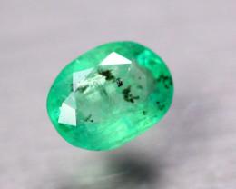 1.25ct Natural Zambia Green Emerald Oval Cut Lot V06