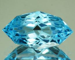 8.80 Cts Jewelry Grade Pretty Natural Blue Topaz Marquies Custom Cut Ref VI