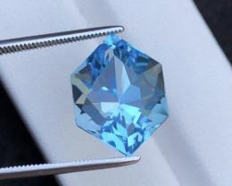 Stunning 14.40 Ct Natural Blue Topaz Gemstone